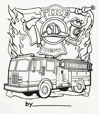 how to draw a realistic fire truck