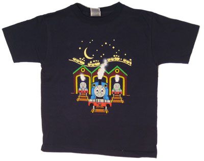 Thomas At Station Glow In The Dark - Thomas The Tank Engine Juvenile And Toddler T-shirt